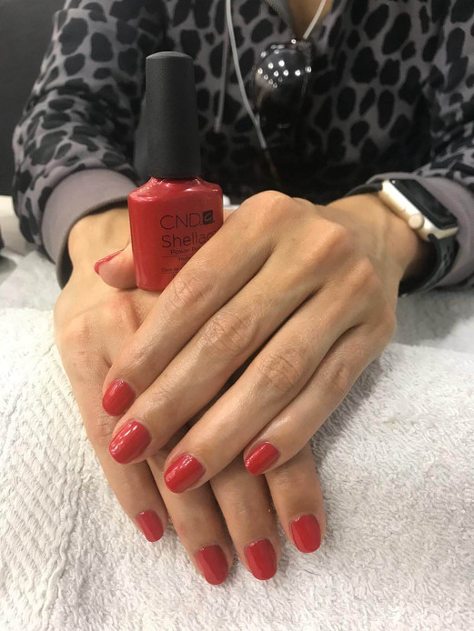 women manicure service  - mac's hair and