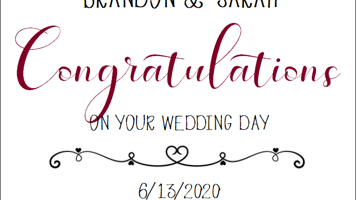 Wedding, Congratulations - MUST BE PURCHASED WITH WINE