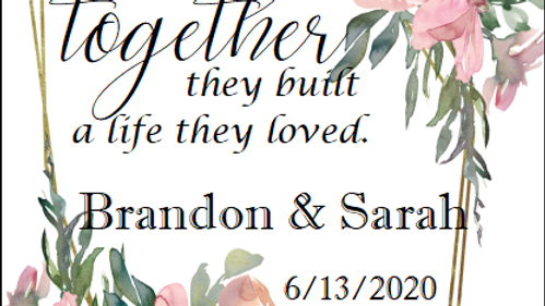 Wedding, Together - MUST BE PURCHASED WITH WINE