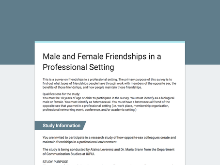 Current research in opposite-sex professional friendships