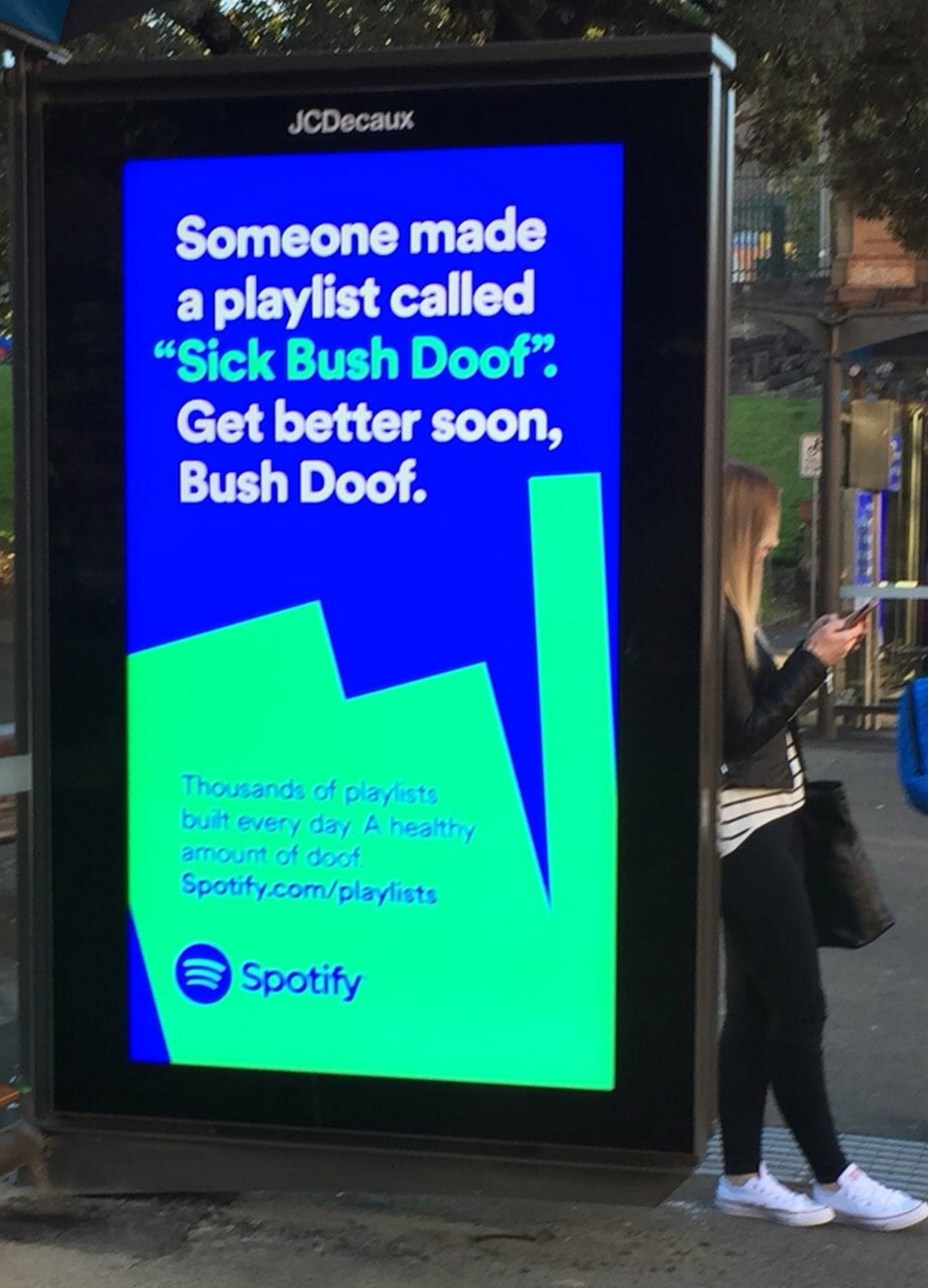 Spotify Out Of Home Ad