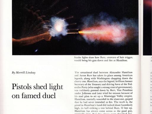 Smithsonian article on Alexander Hamilton's trick pistols