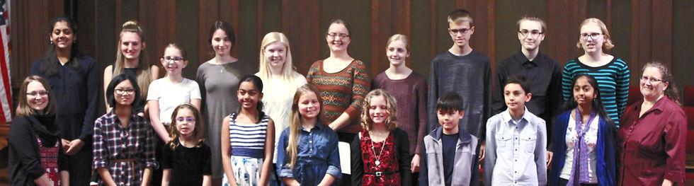Music Students After a Piano and Violin Recita