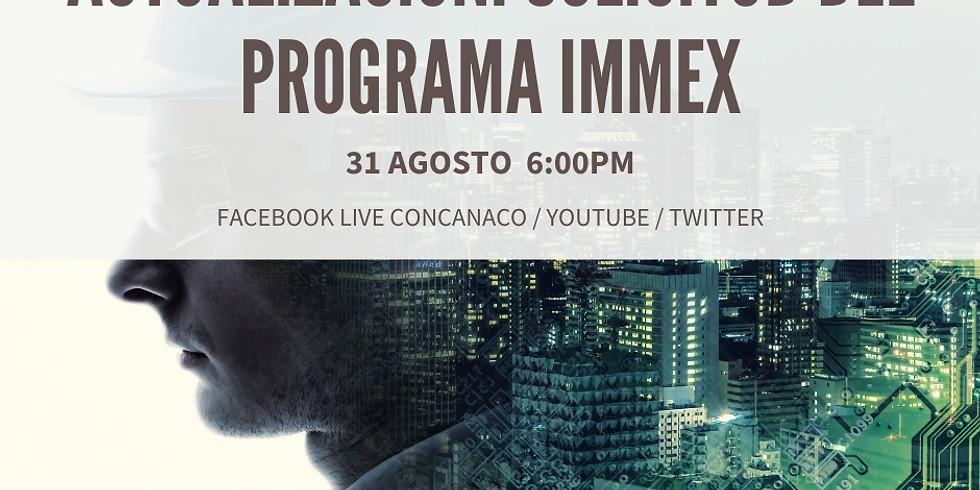 Actualización: Solicitud del programa IMMEX.