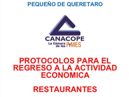 PROTOCOLO DE REGRESO PARA RESTAURANTES