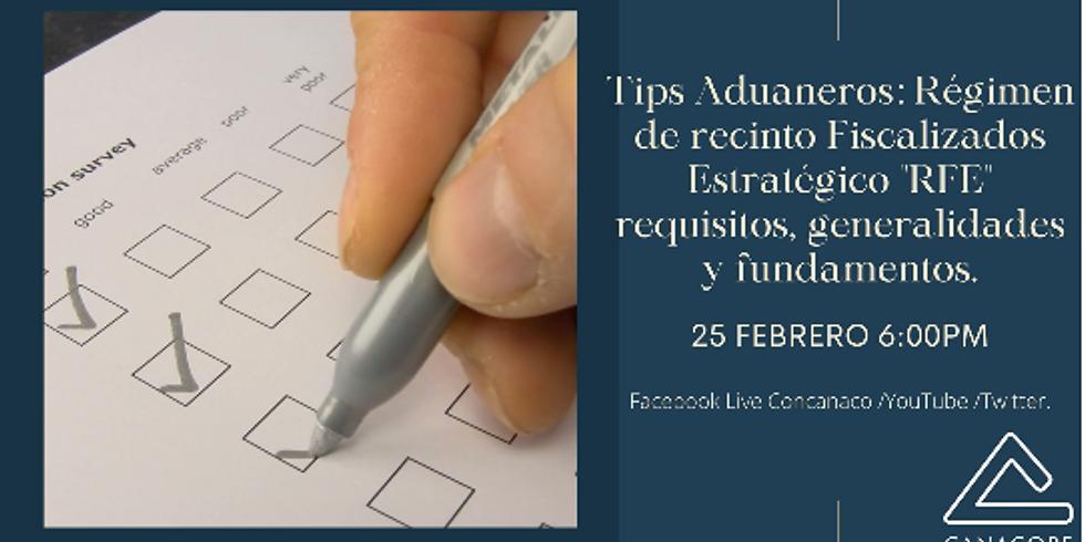 """Tips Aduaneros: Régimen de recinto Fiscalizados Estratégico """"RFE"""" requisitos, generalidades y fundamentos."""
