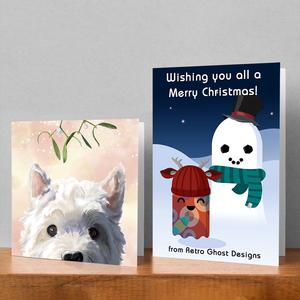 Greetings card designs.