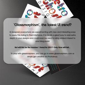 Image designed for a blog post about Glassmorphism.