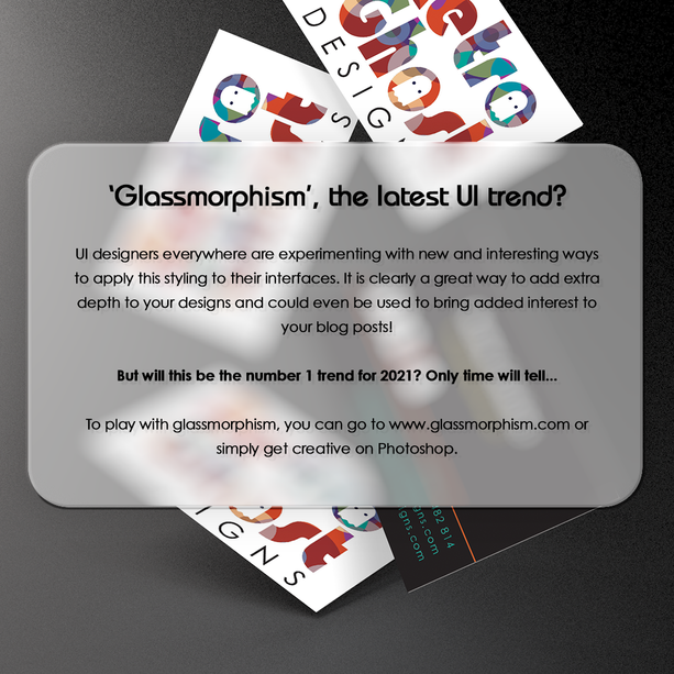 Glassmorphism Blog Post