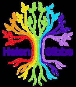 Painterly logo design for Helen Gibbs.