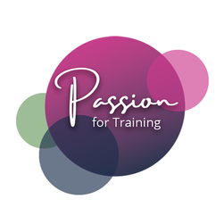 Colourful logo design for Passion for Training.