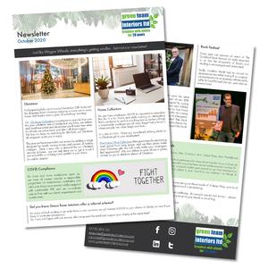 Newsletter layout.