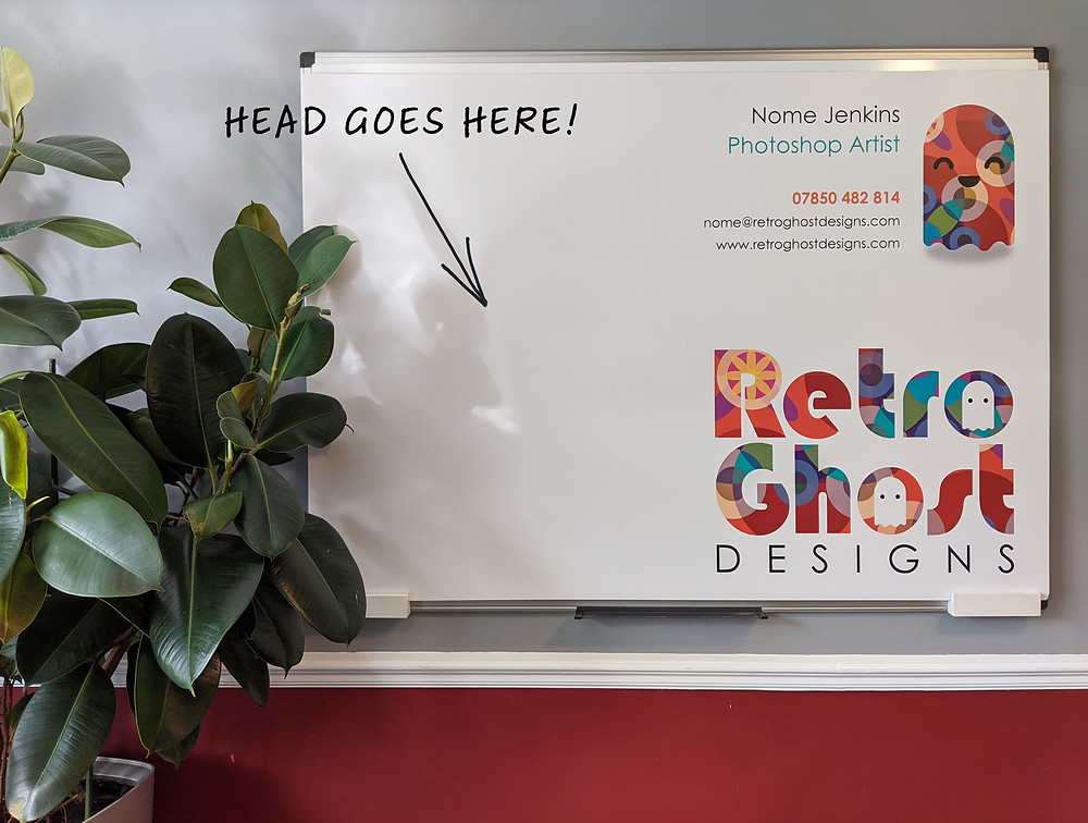 Retro Ghost Designs backdrop for Zoom calls.