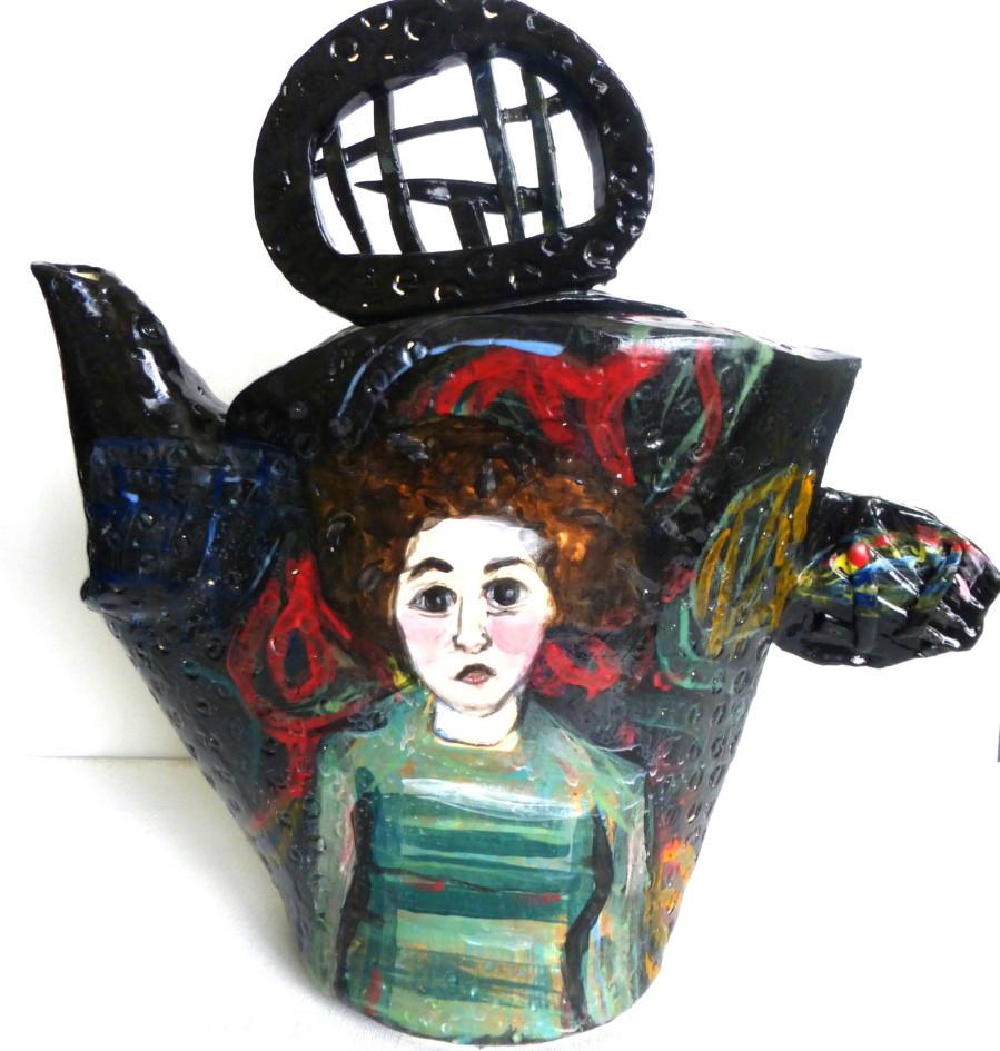 """Teapot """"Lady Striped Shirt"""""""