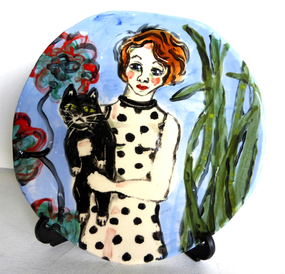 "plate ""Susie and her Cat"""