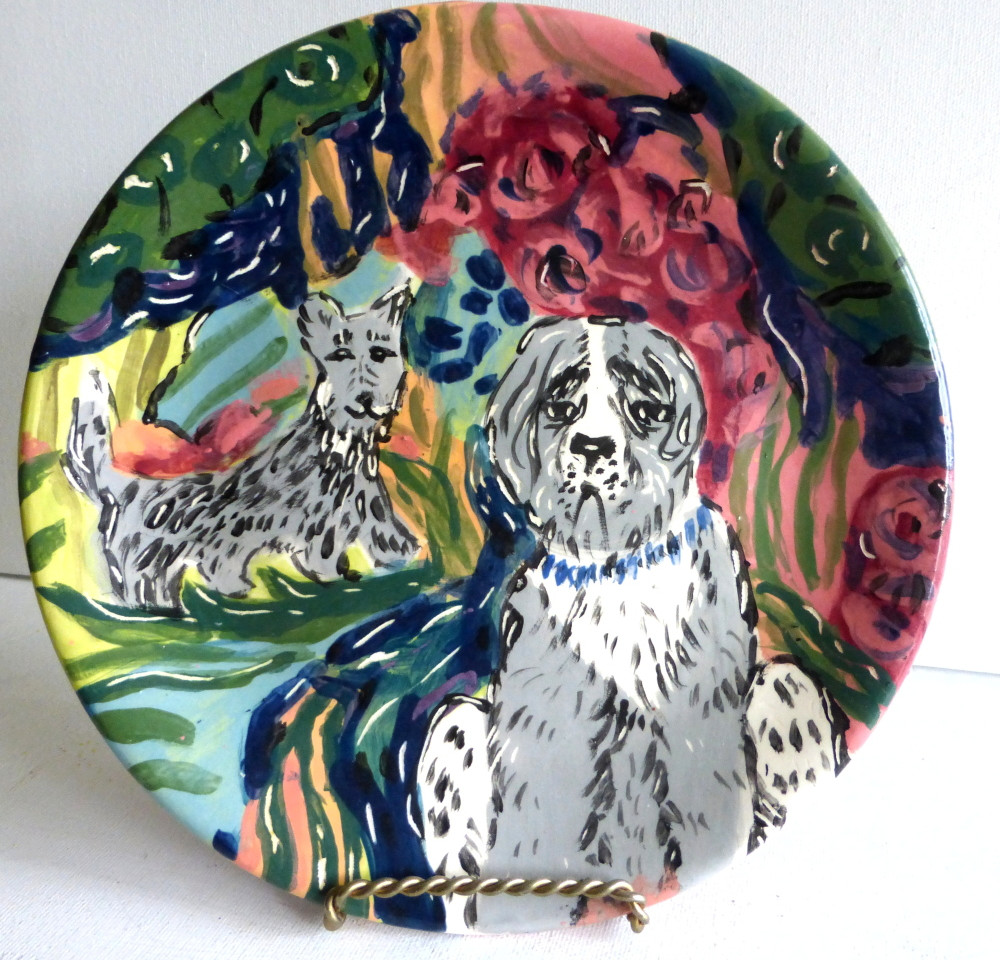 "plate ""The Dog Park"""