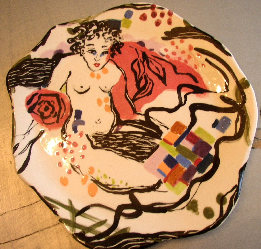 "plate ""Nude Tangled Sheets"""