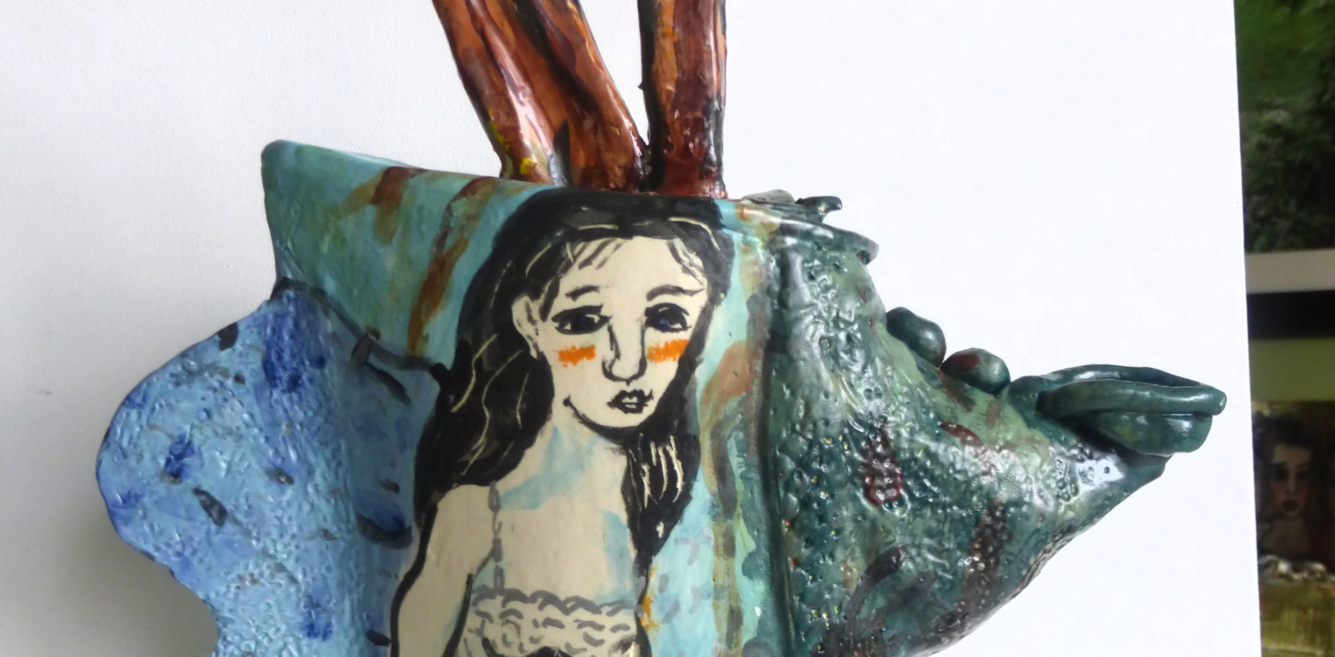 "teapot ""Angel & Deer in Forest"""