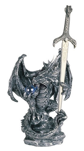 GSC-71328  Silver Dragon with Sword