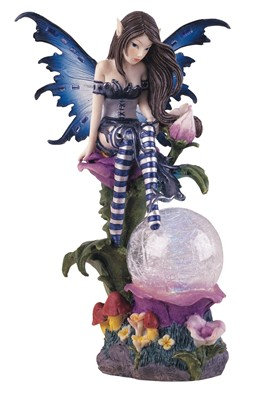 GSC-91273 Blue Fairy with LED glass ball