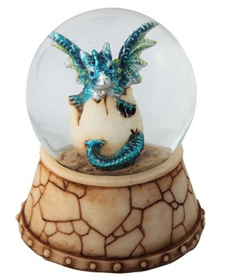 GSC-28066 Blue Dragon hatchling Snow Globe