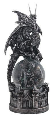 GSC-71692  Silver Dragon Snowglobe