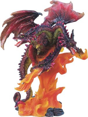 GSC-71184  Small 3-headed Red Fire Dragon