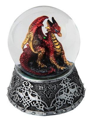 GSC-28071  Red Dragon Snow Globe