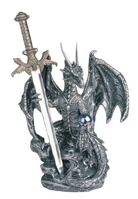 GSC-71329  Silver Dragon with Sword