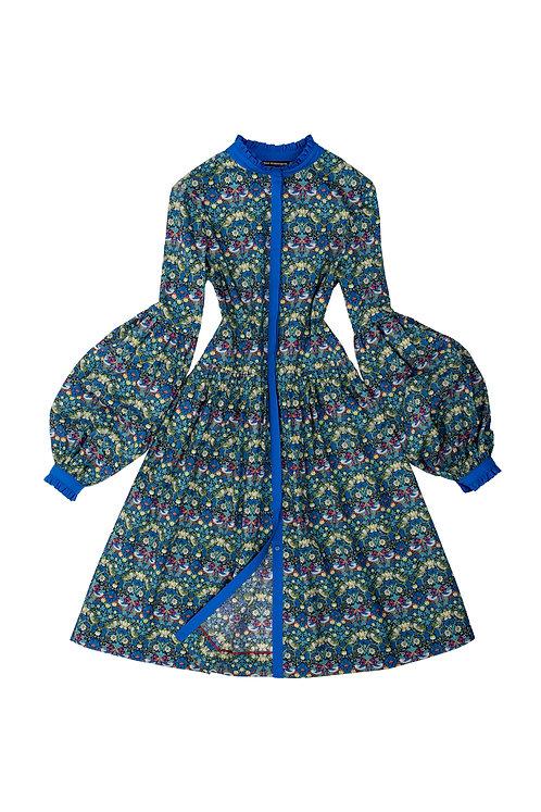 The Candy Dress - Birds & Berries, blue