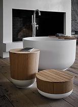 Salle de bain design en bois