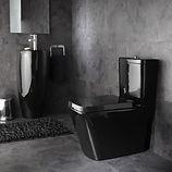WC design noir brillant