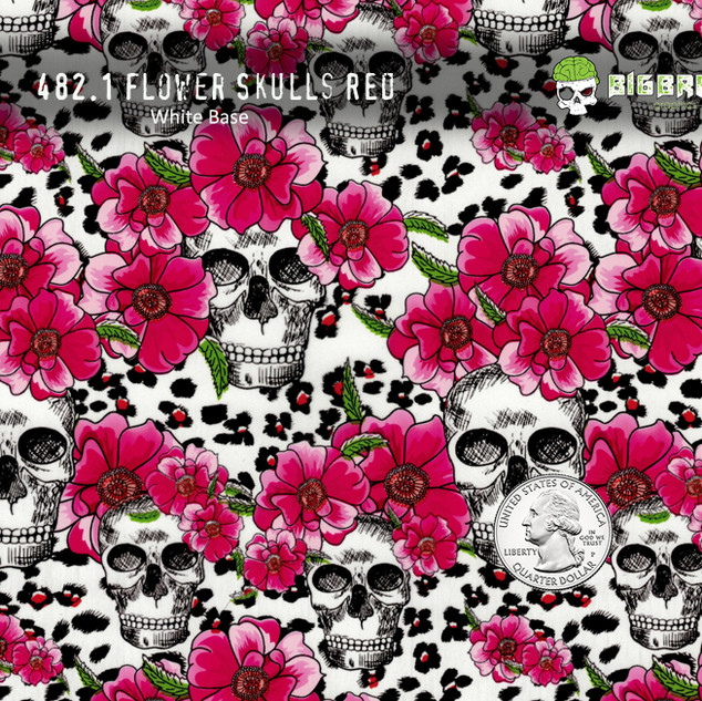 482-Flower-Skull-Skulls-Red-Pink-Animal-