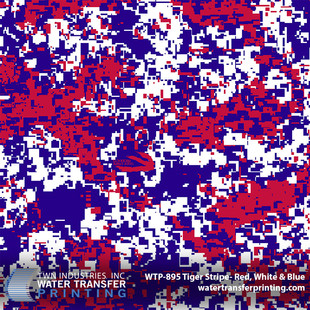 WTP-895 Tiger Stripe- Red, White, Blue.j