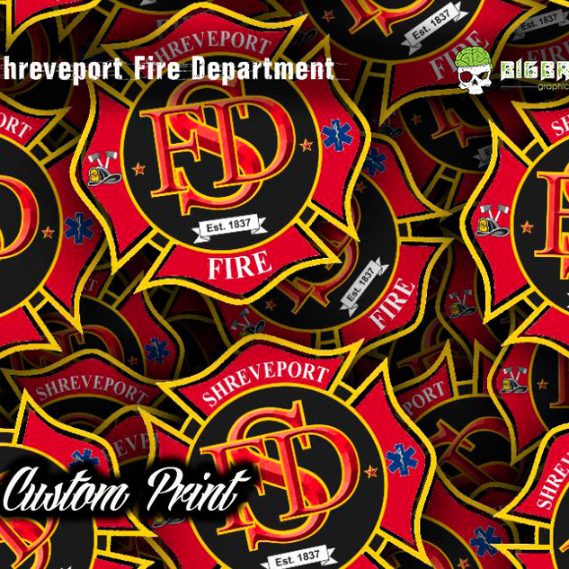 Shreveport Fire Department Logo Custom H