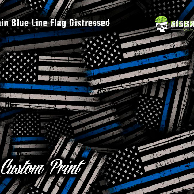 Thin Blue Line Flag Distressed Custom Hy