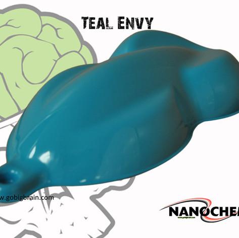 Teal Envy Aquamarine Big Brain Graphics