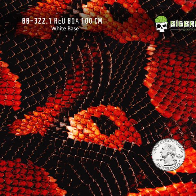 322(100CM)-Red-Boa-Snake-Snakeskin-Anima