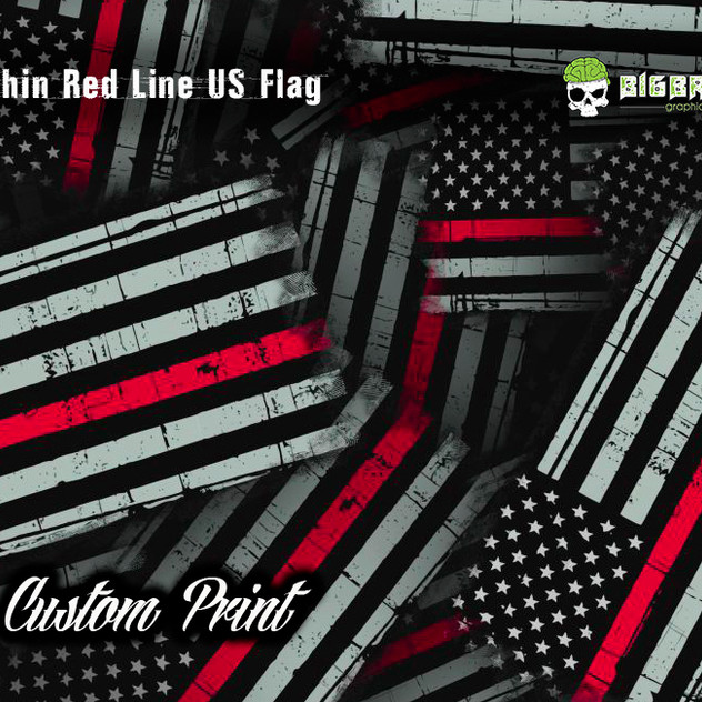 Thin Red Line US Flag Hydrographic Film