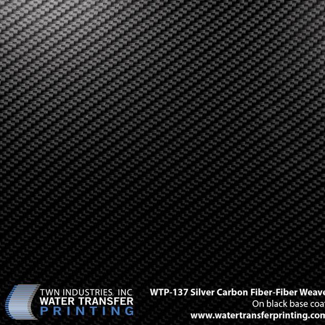 WTP-137 Silver Carbon Fiber-Fiber Weave.