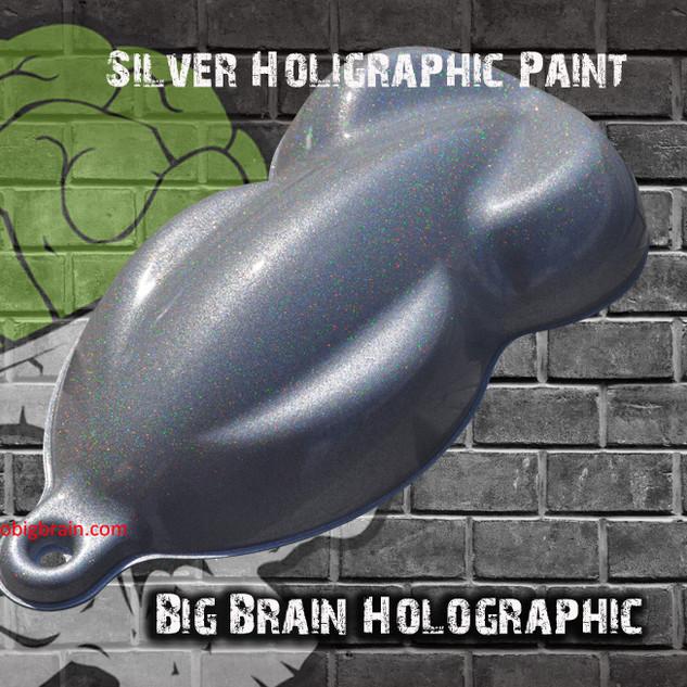 Silver Bright Holographic Reflective Fla