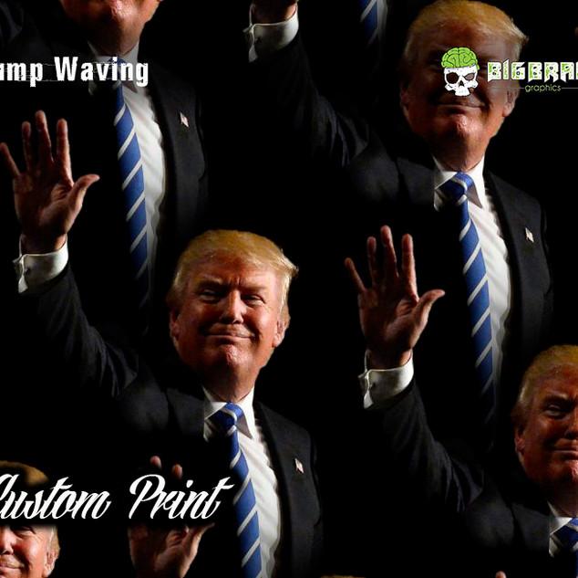 Trump Waving Hydrographic Film Custom Fi