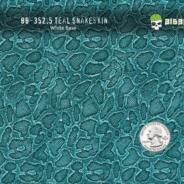 352-Teal-Snake-Snakeskin-Green-Animal-Re