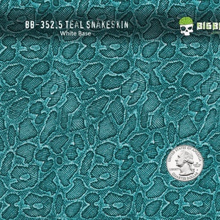 352-Teal-Snake-Snakeskin-Green-Animal-Re