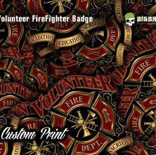 Volunteer Firefighter Badge Custom Hydro