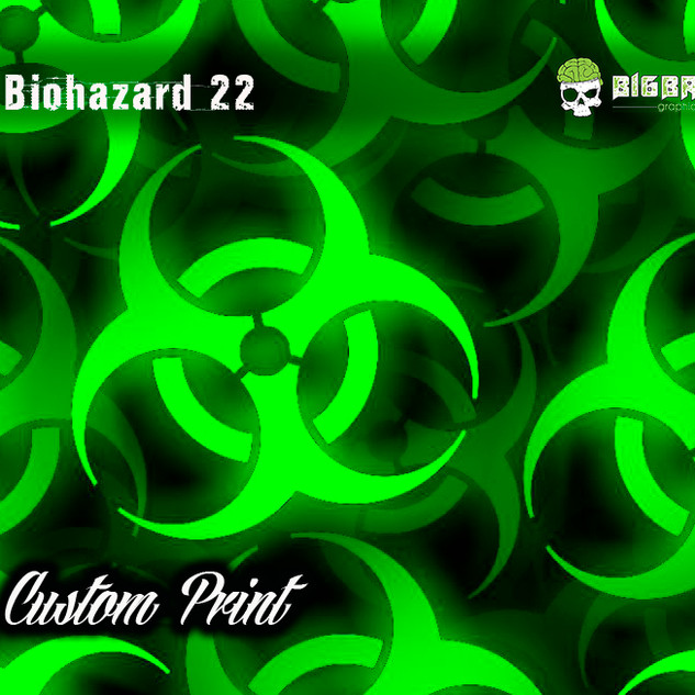 Biohazard 22  Hydrographic Film Custom F