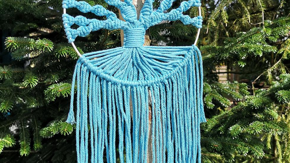 Wandbehang Baum des Lebens türkis