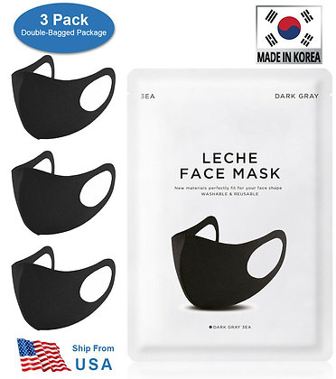 3 Pack Reusable Washable Breathable Polyurethane Face Mask For Unisex