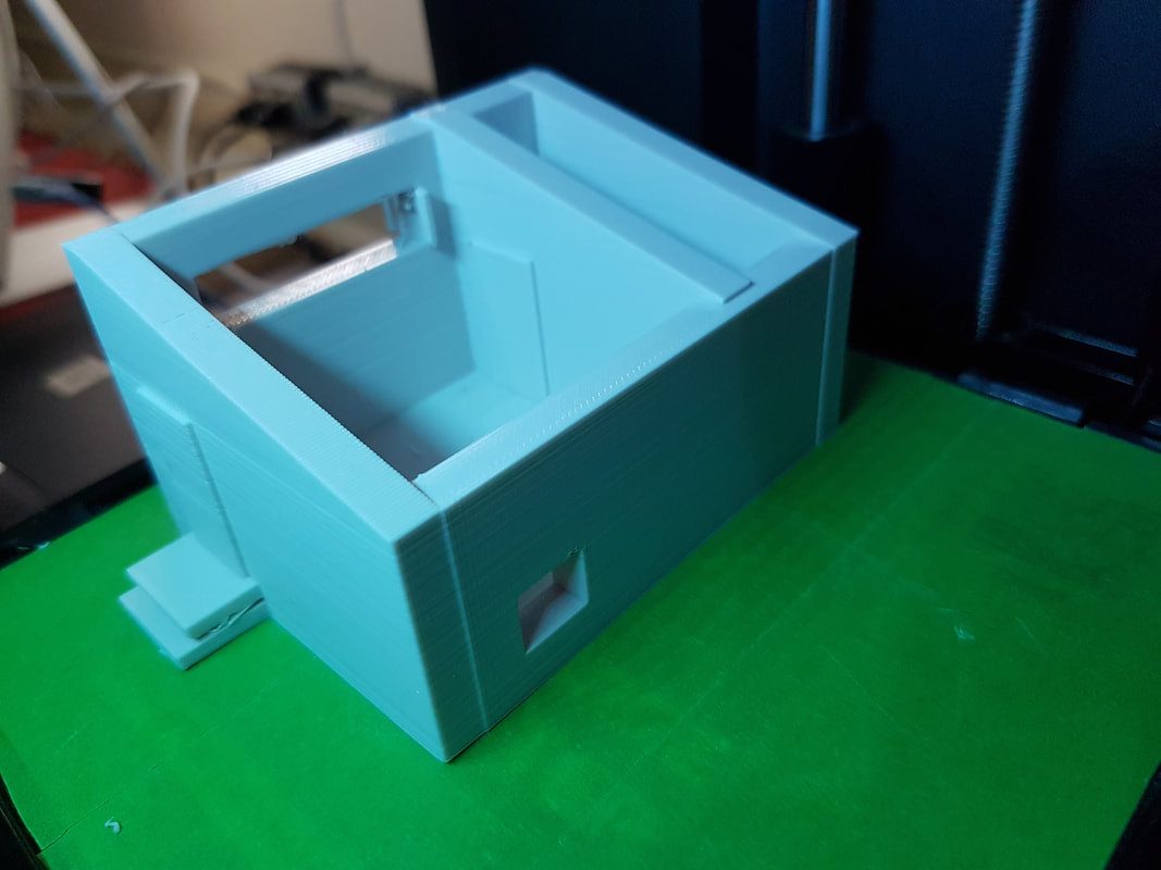 Students created a prototype of the greenhouse with our school's 3D printer