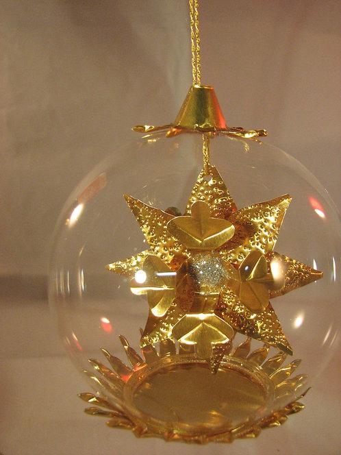 Snow Crystal Gold Clear Bead  171GC